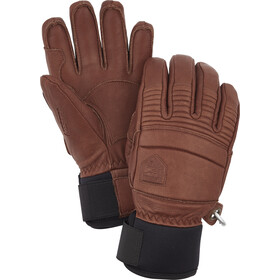 Hestra Leather Fall Line 5 Finger Gloves, brown